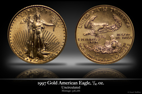1997 Business-Strike 1/10 oz Gold American Eagle