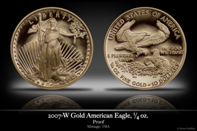 2007 Business-Strike 1/4 oz Gold American Eagle