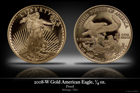 2008 Business-Strike 1/4 oz Gold American Eagle