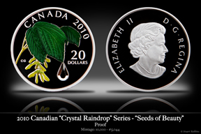 2010 Canadian Maple Leaf Crystal Coin 'Seeds of Beauty'