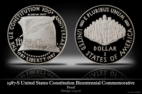 1987-S Constitution Silver Proof Commemorative Coin
