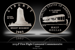 2003-P Wright Brother's First Flight Clad Proof Commemorative Coin