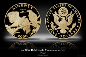 2008-W Bald Eagle Gold Proof Commemorative Coin