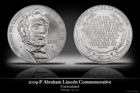 2009 Abraham Lincoln Silver Uncirculated Commemorative Coin