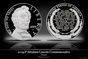 2009 Abraham Lincoln Silver Proof Commemorative Coin