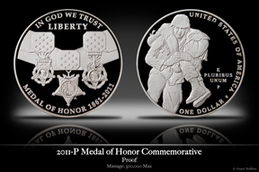 2011-P Medal of Honor Silver Proof Commemorative Coin