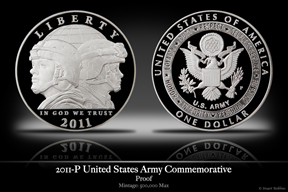 2011-P United States Army Silver Proof Commemorative Coin