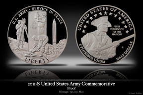 2011-S United States Army Clad Proof Commemorative Coin