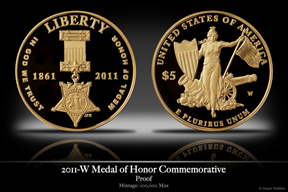 2011-W Medal of Honor Gold Proof Commemorative Coin