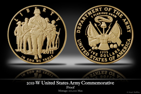 2011-W United States Army Gold Proof Commemorative Coin